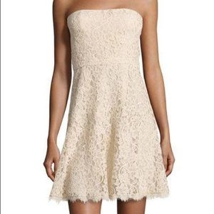 DVF Amira Lace Strapless Dress